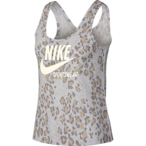 Nike dames fitness singlet Gym Vintage Woven - Grijs
