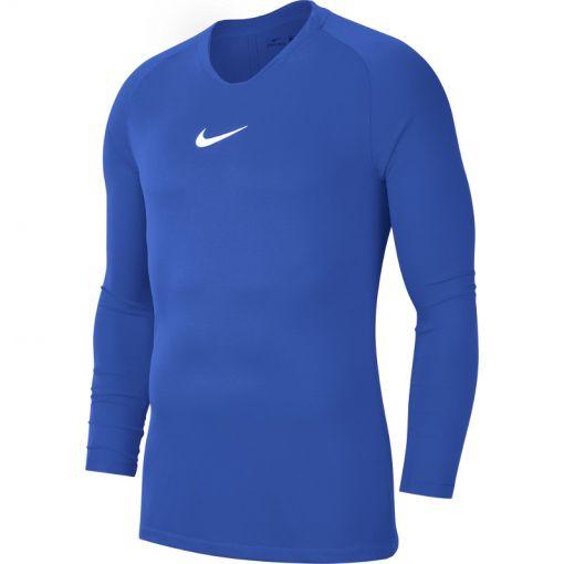 Nike heren voetbalshirt Academy 19 thermo - 463 Ryl Bl/White