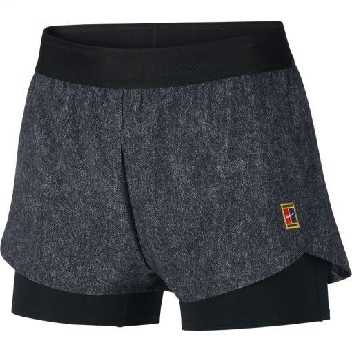 Nike dames tennis short Flex - Zwart