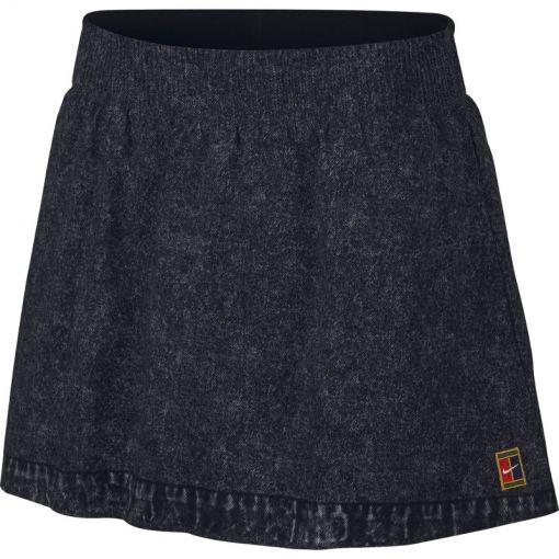 Nike dames tennisrokje DRY Slam - Zwart
