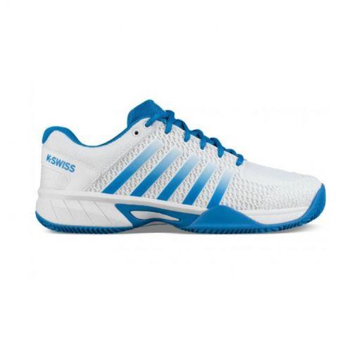 K-Swiss heren tennis schoen Express Light - White/Brillant Blue