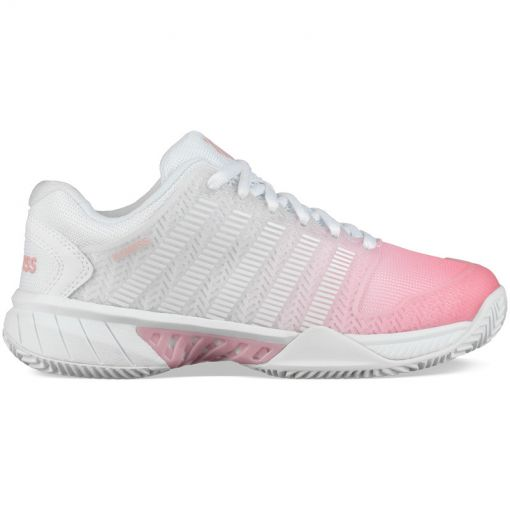 K-Swiss dames tennis schoen Hypercourt Exp Hb - White/Pink/Lemon