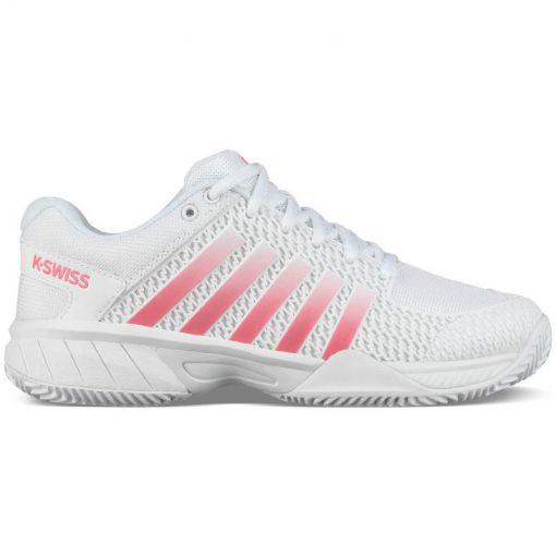 K-Swiss dames tennis schoen Express Light Hb - White/Pink Lemo