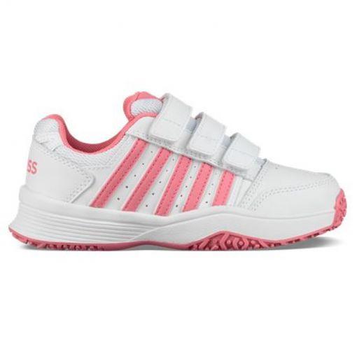 K-Swiss dames tennis schoen Bigshot Light - White/Pink Lemo
