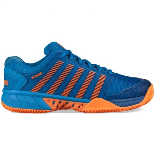 K-Swiss junior tennis schoen Hypercourt Exp - Bril Blue/Neon