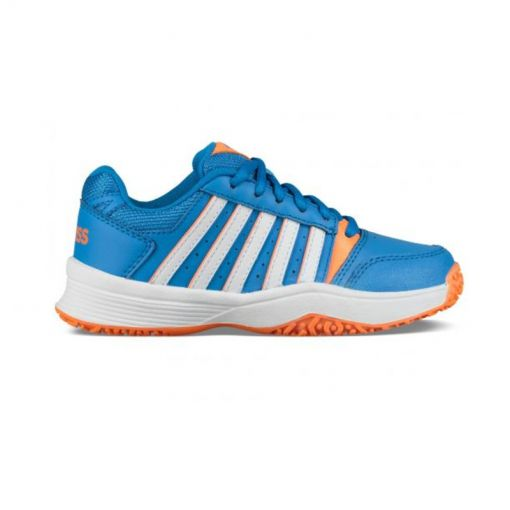 K-Swiss junior tennis schoen Court Smash - Bril Blue/Neon