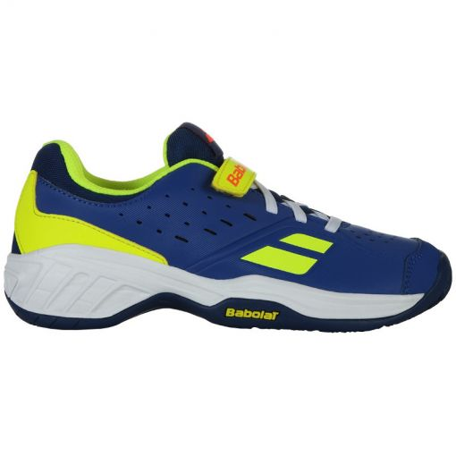Babolat junior tennis schoen Pulsion Ac Kid - 4043 Blue/Fluo Aero