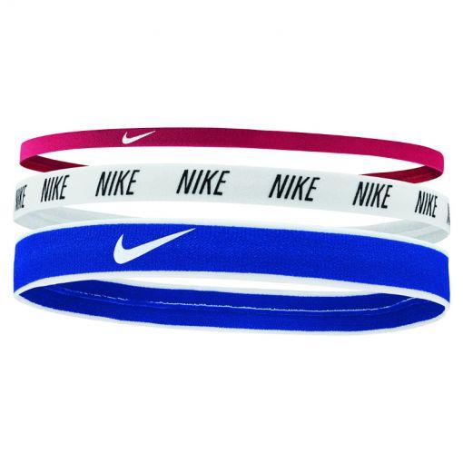 Nike Mixed Width Headband - 905 Red/White/Blu