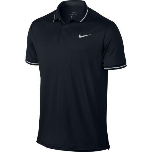 Nike heren tennis polo DRY Solid - Zwart