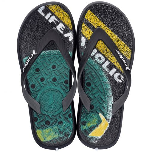 Rider junior beach slipper Energy - Zwart