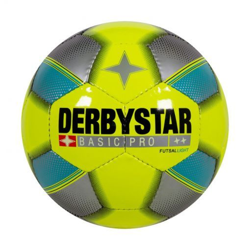 Derbystar zaalvoetbal Basic Pro Light - 4590 Yellow-Blue-Silver