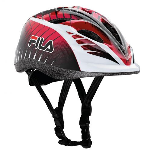 Fila junior skatehelm - Red/White/Black
