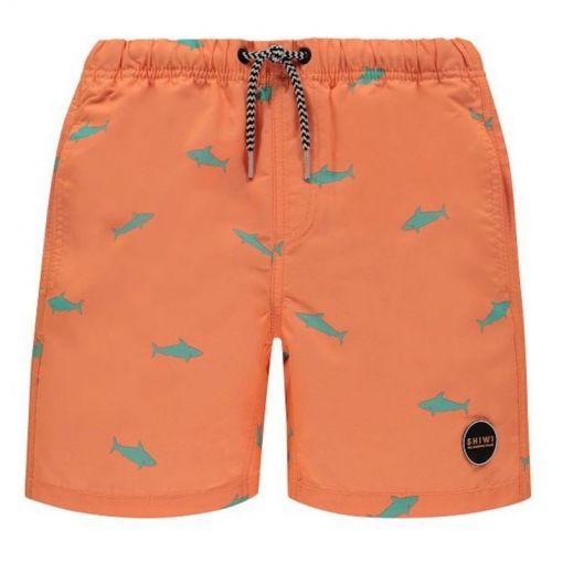 Shiwi jongens zwem short Mako - Oranje