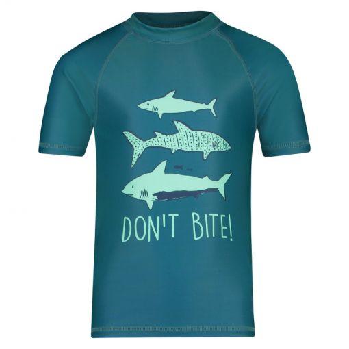 Shiwi jongens zwem t-shirt Rash Shark - 666 Ocean Blue