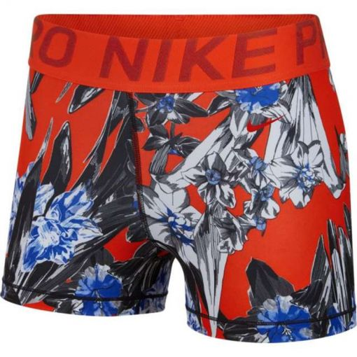 """Nike dames fitness short Pro Printed 3"""" - Wit"""
