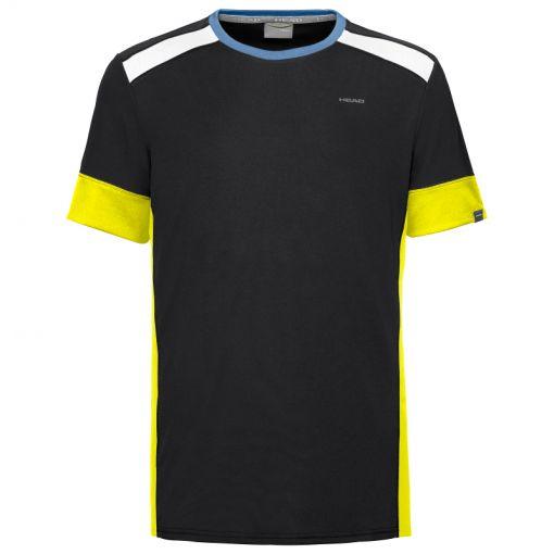 Head heren tennis t-shirt Uni - Zwart
