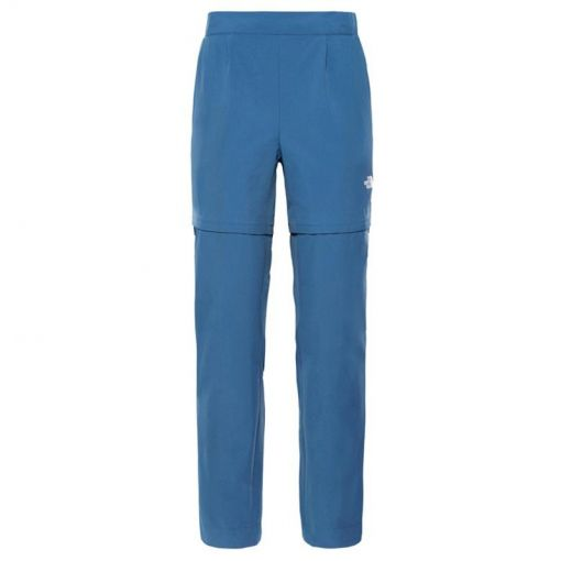 The North face dames wandelbroek Inlux Convertible - N4L Blue Wing