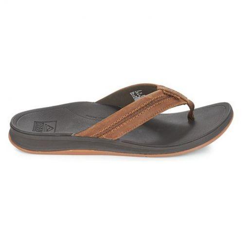 Reef heren slipper Leather Ortho-Bounce Coast - BRO Brown