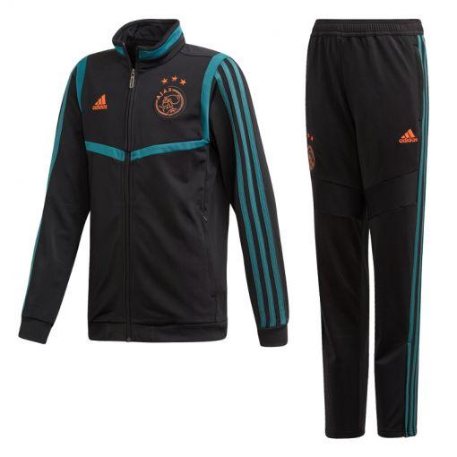 Adidas voetbal junior trainingspak Ajax - BLACK/TECGRN
