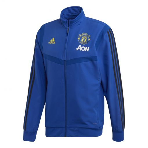 Adidas senior voetbal jack Manchester United - CROYAL/BLACK
