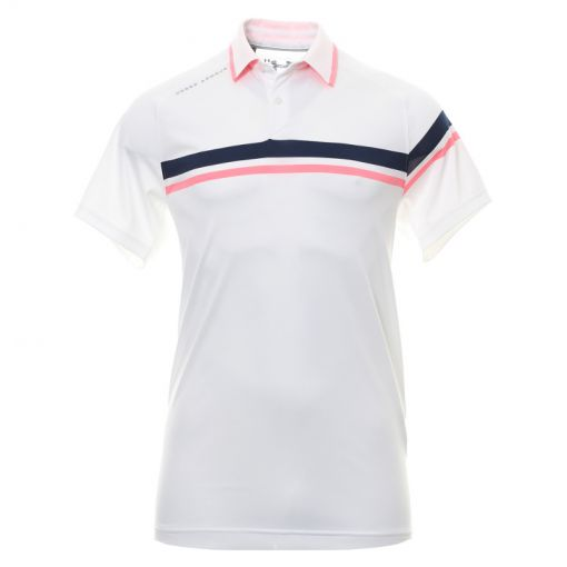 Under Armour heren golf polo Tour Tips Drive - Wit