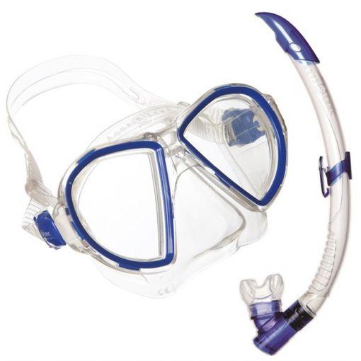 Aqua masker+snorkel Duetto Lx + Airflex Purge Lx - Blauw