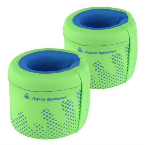 Aqua zwembandjes kids - Fluo Green/Light Blue