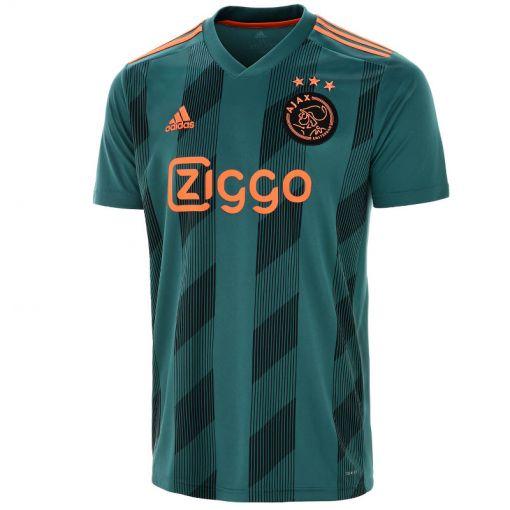 Adidas senior voetbal t-shirt Ajax - TECGRN/BLACK/SESO TECGRN/BLACK