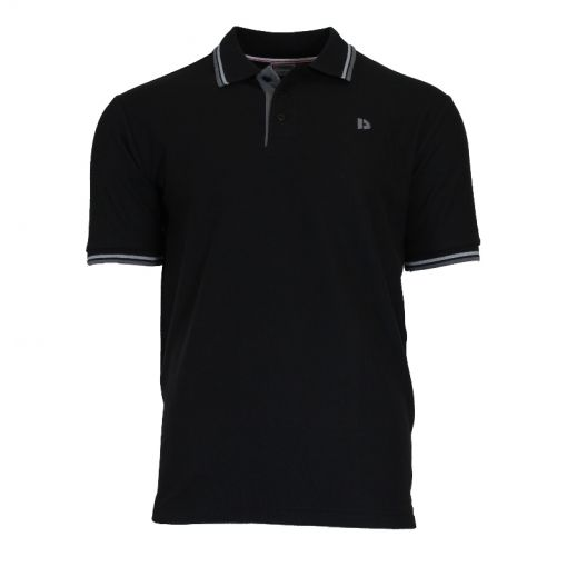 Donnay heren polo Twin Tipped Pique - Zwart