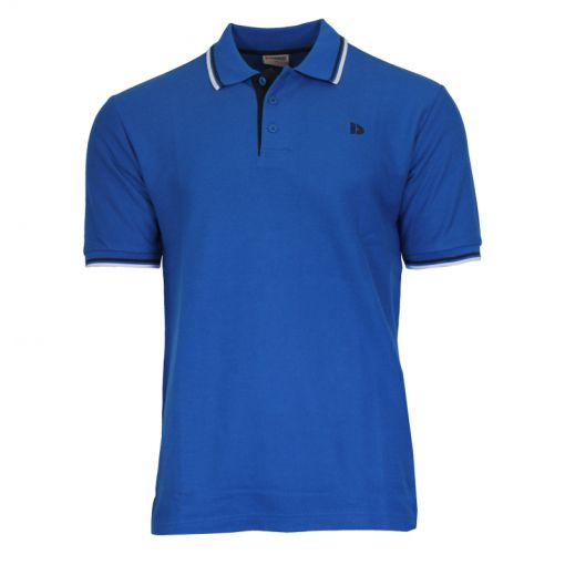 Donnay heren polo Twin Tipped Pique - Donker blauw