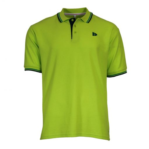Donnay heren polo Twin Tipped Pique - Groen