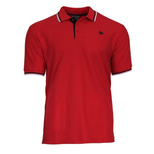 Donnay heren polo Twin Tipped Pique - Rood
