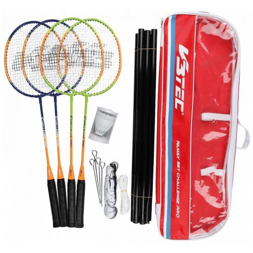 Badmintonset Challenge Pro Family 4 pers. incl net - Diversen