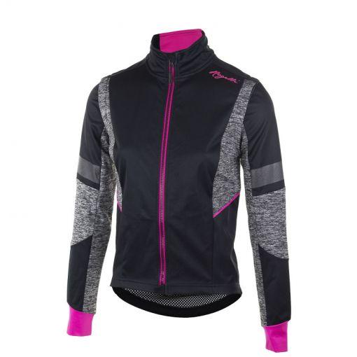 Rogelli dames wielren jack Transition - Zwart/Cerise/Roze