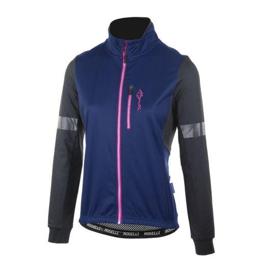 Rogelli dames wielren jack Transition - Zwart/Blauw/Roze