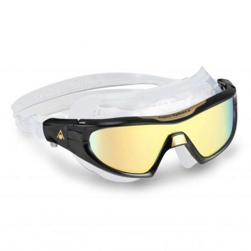 Aqua Vista Pro Multilayer Gold Mirrored Lens - Zwart