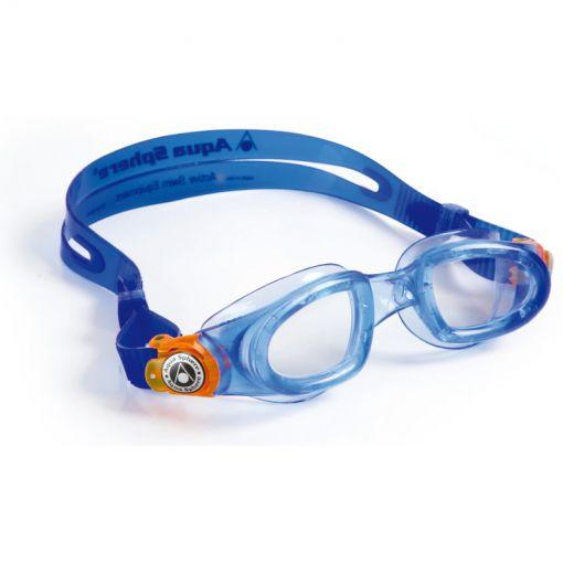 Aqua Moby Kid Clear Lens - Blauw