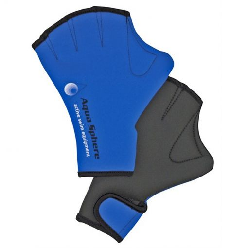 Aqua zwem hand vliezen Swim Glove - Blauw