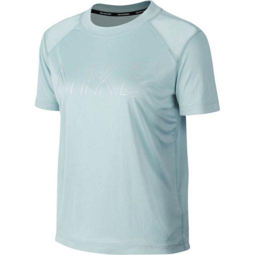 Nike dames running t-shirt Miler SS - Blauw