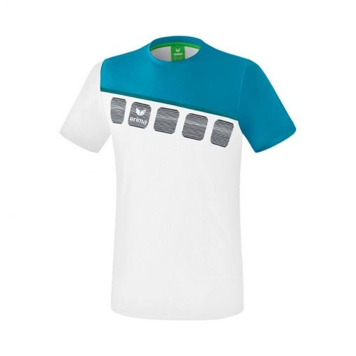Erima jongens tennis t-shirt 5-C Function - White/Oriental