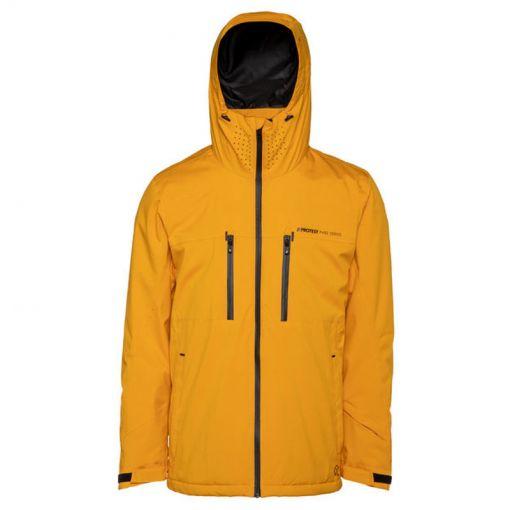 Protest heren ski jas Clavin 19 - Geel