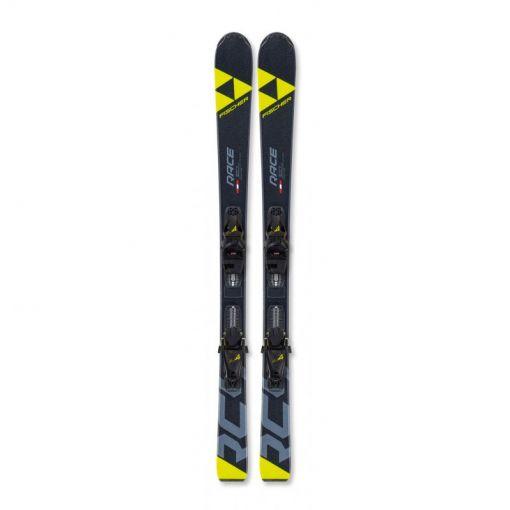 Fischer junior ski RC4 RACE JR SLR+FJ4 AC SLR - geel