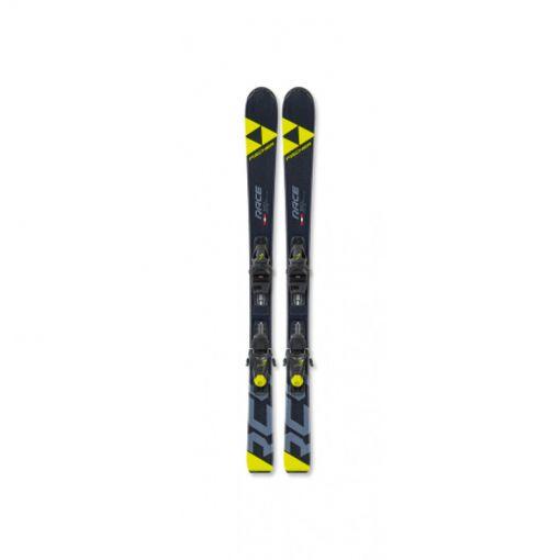Fischer junior ski RC4 RACE JR SLR+FJ7 AC SLR - geel