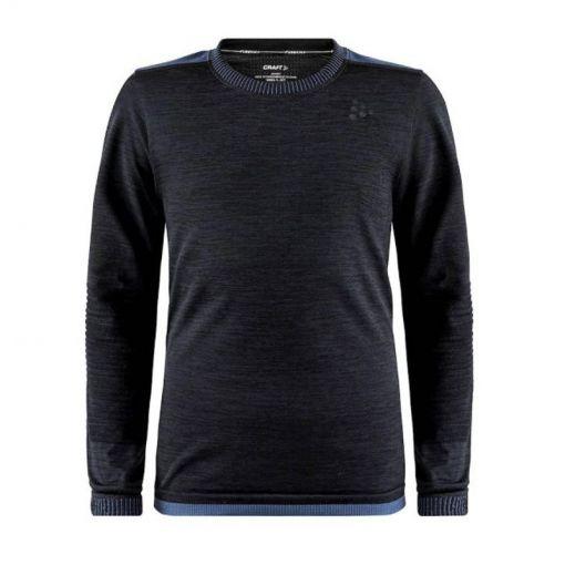 Craft junior thermoshirt Fuseknit Comfort RN LS J - B99000 BLACK