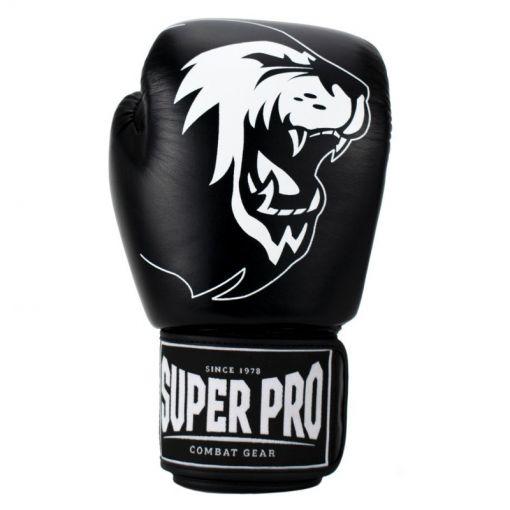 Super Pro Combat bokshandschoen Warrior - Zwart/Wit
