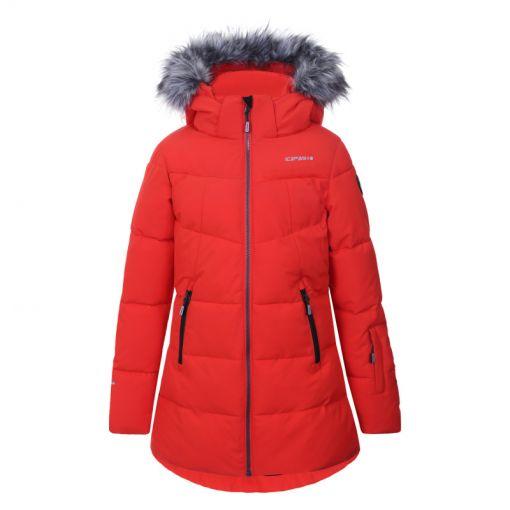 Icepeak meisjes ski jas Leona - 645 CORAL-RED