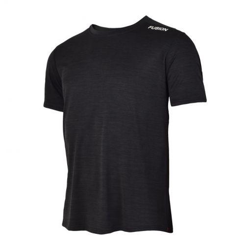 Fusion heren t-shirt C3 - Black Melange