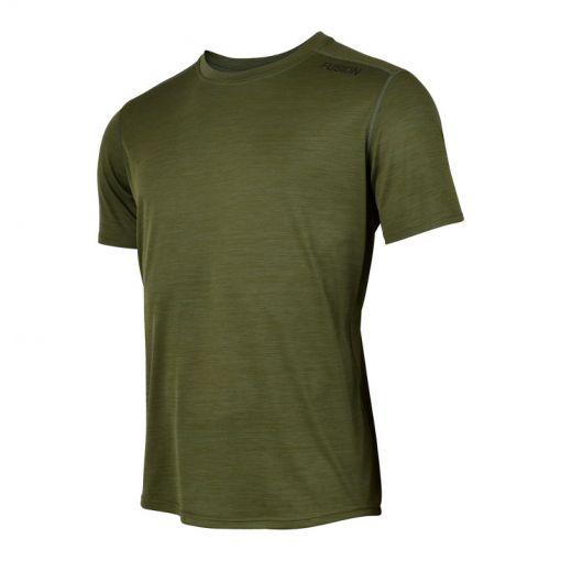 Fusion heren t-shirt C3 - Green Melange