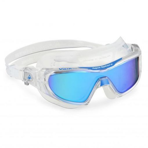 Aqua zwembril Vista Pro Multilayer - Blue mirror/ lime