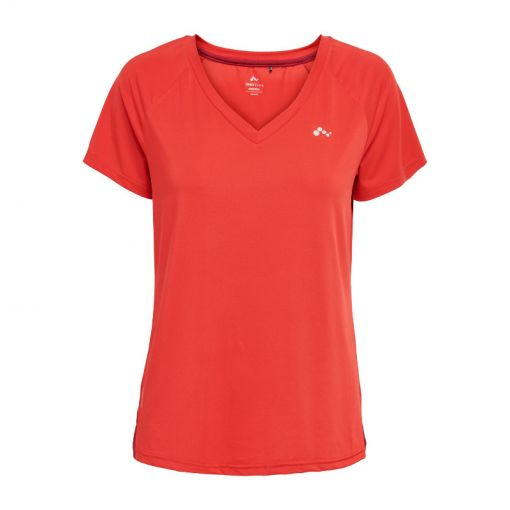 Only play dames t-shirt Jodie Curvy - Flame Scarlet